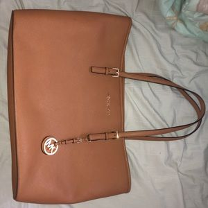 Brown/Tan Michael Kors large tote